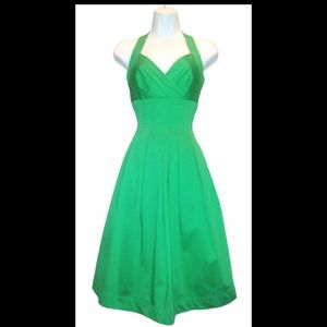 Calvin Klein Emerald green pleated dress